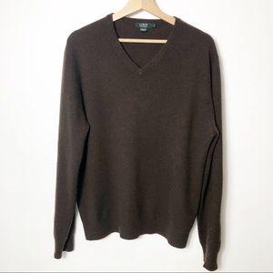 J Crew 100% Italian Cashmere V Neck Sweater